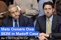 Mets Owners Owe $83M in Madoff Case