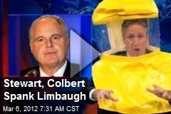 Stewart, Colbert Spank Limbaugh