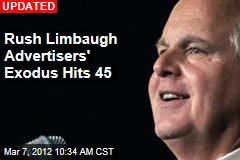 Rush Limbaugh Advertisers' Exodus Hits 29