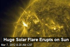 Huge Solar Flare Erupts on Sun