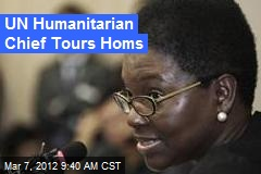 UN Humanitarian Chief Tours Homs