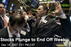 Stocks Plunge to End Off Week