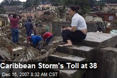 Caribbean Storm's Toll at 38