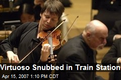 Virtuoso Snubbed in Train Station