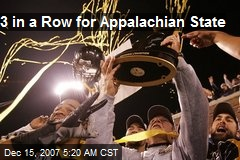 3 in a Row for Appalachian State