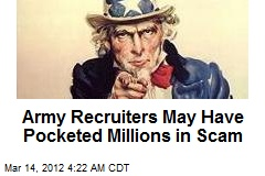 Army Probing Recruitment Scam