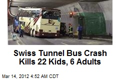 Swiss Tunnel Bus Crash Kills 22 Kids, 6 Adults