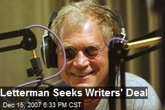 Letterman Seeks Writers' Deal