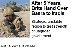 After 5 Years, Brits Hand Over Basra to Iraqis