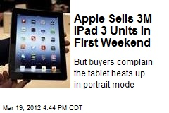 iPad 3 Sells 3M Units in Debut Weekend