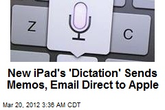 New iPad's 'Dictation' Sends Memos, Email Direct to Apple