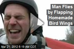 Engineer Flies by Flapping Custom-Made 'Bird Wings'