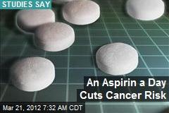 An Aspirin a Day Cuts Cancer Risk