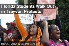 Florida Students Walk Out in Trayvon Protests