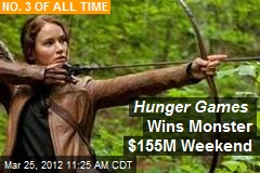 Hunger Games Wins Monster $155M Weekend