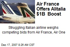 Air France Offers Alitalia $1B Boost