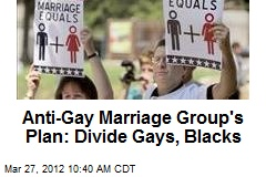 Anti-Gay Marriage Group's Plan: Divide Gays, Blacks
