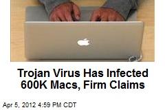 Trojan Virus Has Infected 600K Macs, Firm Claims