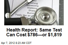 Health Report: Same Test Can Cost $786—or $1,819