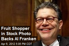 Fruit Shopper in Stock Photo Backs Al Franken