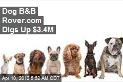 Dog B&B Rover.com Digs Up $3.4M