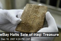 eBay Halts Sale of Iraqi Treasure