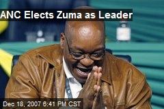 ANC Elects Zuma as Leader