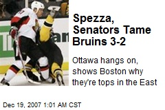 Spezza, Senators Tame Bruins 3-2