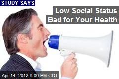 Low Social Status Bad for Your Health