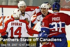 Panthers Stave off Canadiens