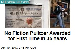 2012 Pulitzers Announced