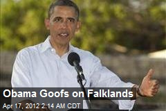 Obama Goofs on Falklands