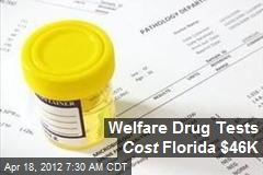 Welfare Drug Tests Cost Florida $46K