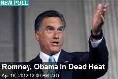 Romney, Obama in Dead Heat
