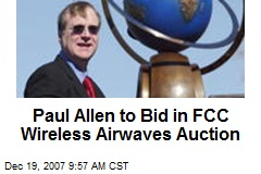 Paul Allen to Bid in FCC Wireless Airwaves Auction