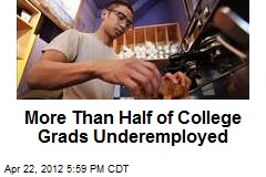 More Than Half of College Grads Underemployed