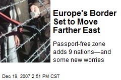 Europe's Border Set to Move Farther East
