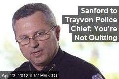 Trayvon Police Chief to Resign
