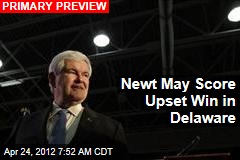 Newt May Score Upset Win in Delaware