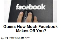 Guess How Much Facebook Makes Off You?