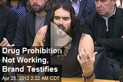 Drug Prohibition Not Working, Brand Testifies