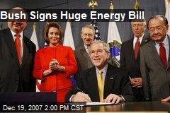 Bush Signs Huge Energy Bill