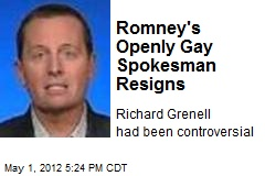 Romney's Openly Gay Spokesman Resigns