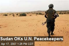 Sudan OKs U.N. Peacekeepers