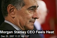 Morgan Stanley CEO Feels Heat