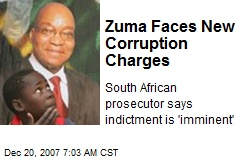 Zuma Faces New Corruption Charges