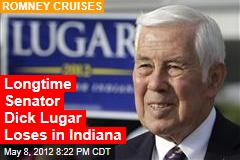 Longtime Senator Dick Lugar Losing in Indiana