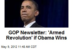GOP Newsletter: 'Armed Revolution' if Obama Wins