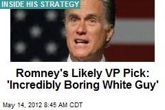 Romney's Likely VP Pick: 'Incredibly Boring White Guy'