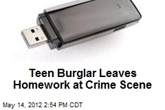 Teen Burglar Leaves Homework at Crime Scene